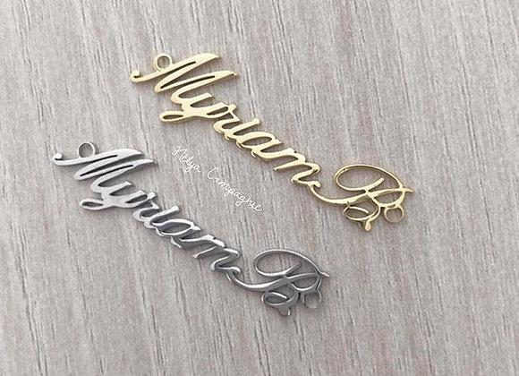 Plaque customisée mot ou prénom