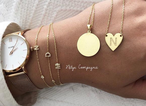 Collier médaillon ou coeur gravé