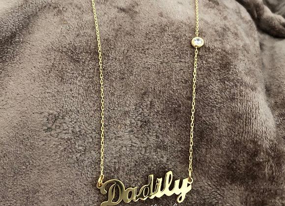 Collier prénom customisé petit diamant