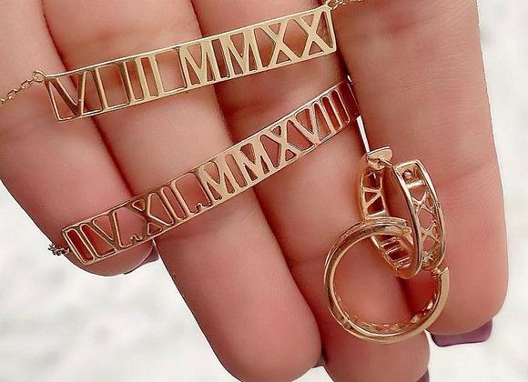 Collier ou bracelet chiffres romains