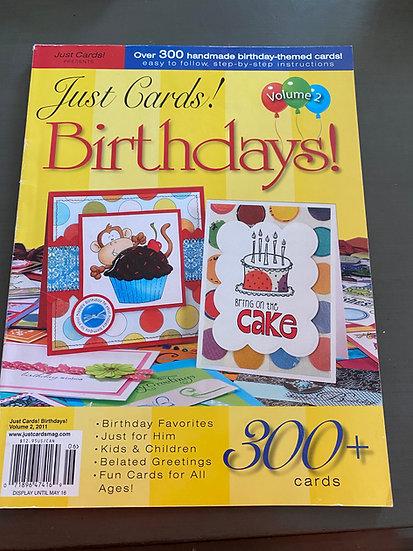 Just Cards - Birthdays! Magazine