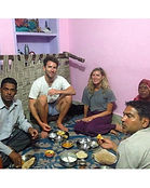 Rajasthani style dining with my wonderfu