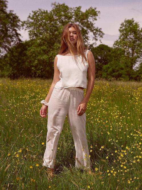 White Top & Trouser Set