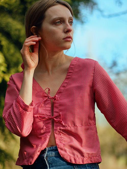 Ava blouse - red gingham