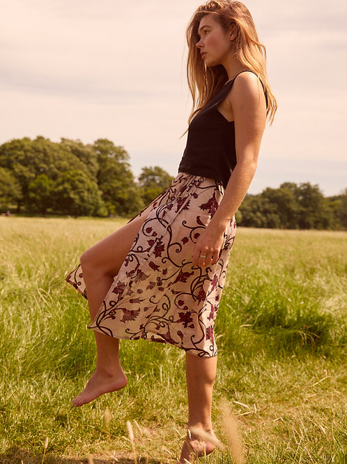 Lily in HODA midi wrap skirt