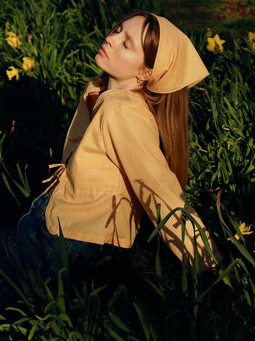 Ava blouse - yellow gingham