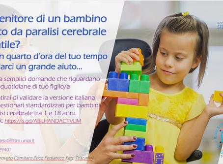 Sei genitore di un bambino affetto da paralisi cerebrale infantile?