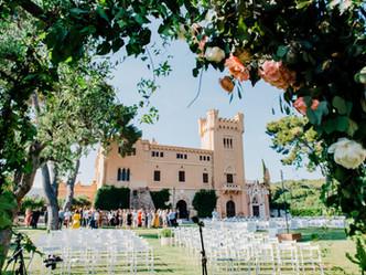 D&T vinyard wedding at Torre del Veguer