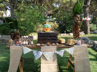 Mesa dulce al estilo Safari