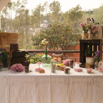 Mesa dulce vintage para 18 cumpleaños