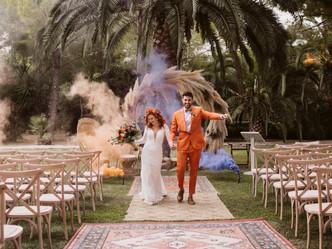 Boho wedding at our venue Castell Resort