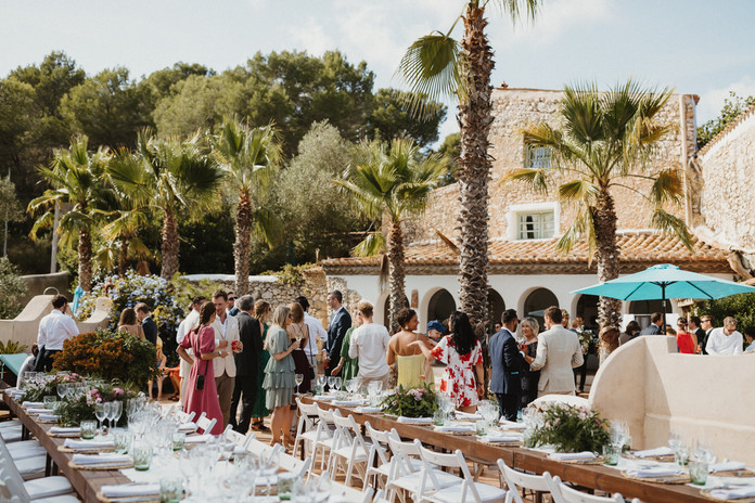 Mediterranean wedding at Mas Nur