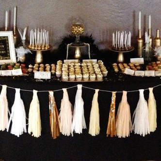 "Mesa dulce para una boda al estilo ""Gatsby"""