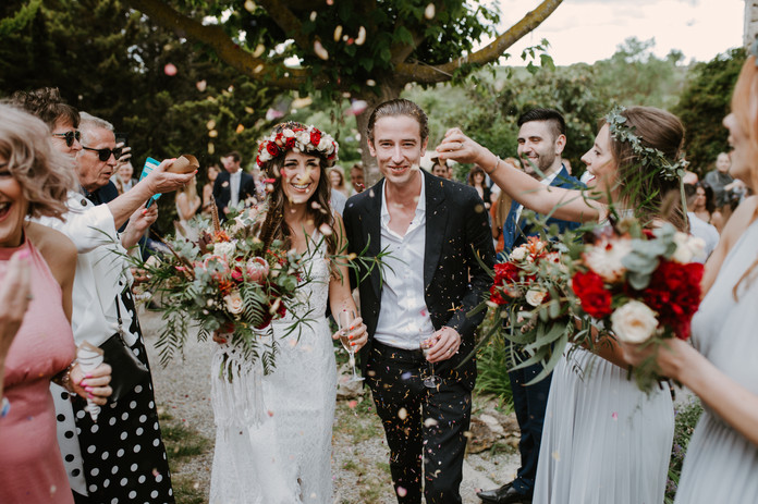 S&S boho wedding at Masia Can Vidal