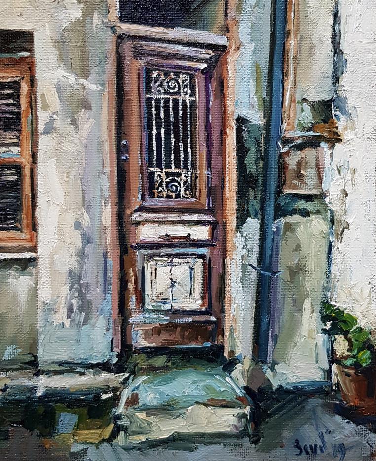 Старая дверь живопись маслом Artintent