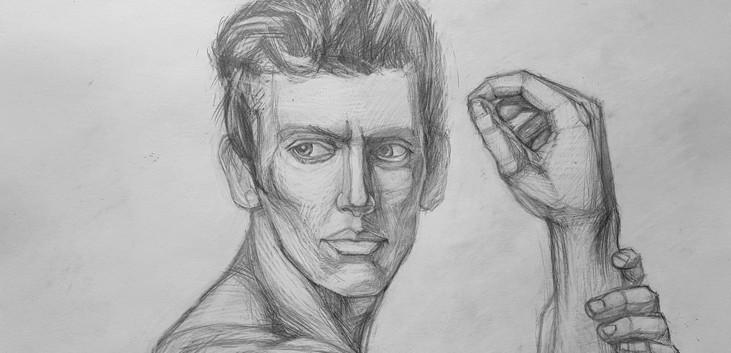 рисунок фигуры карандашом в движении