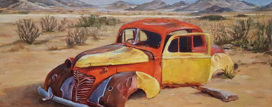 Пустыня. Artintent пейзаж маслом.