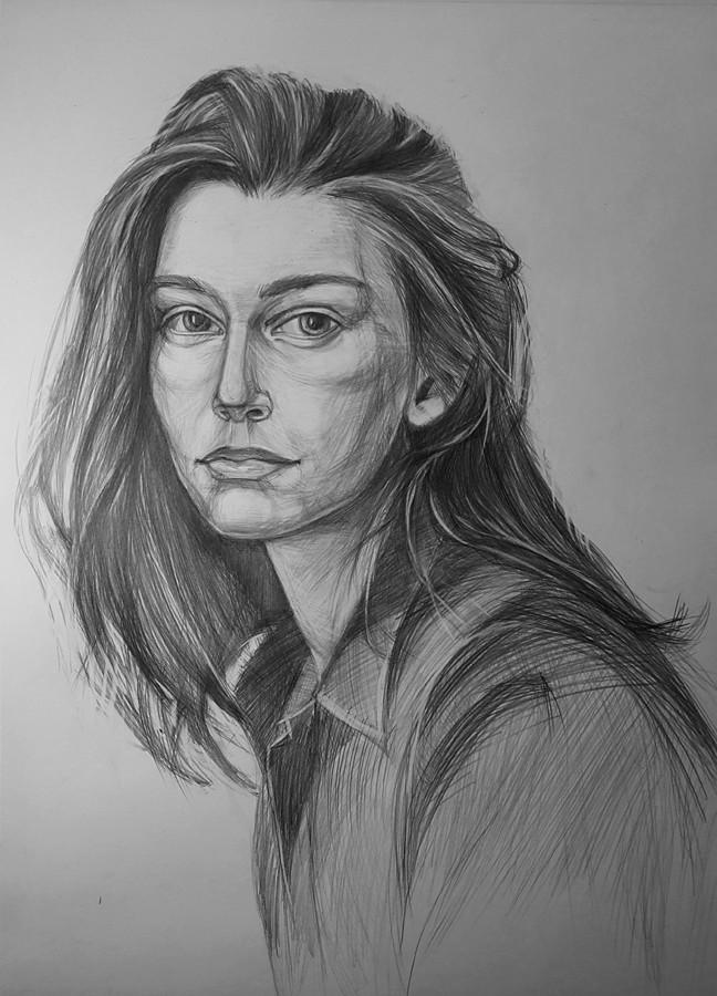 Портрет девушки карандашом artintent