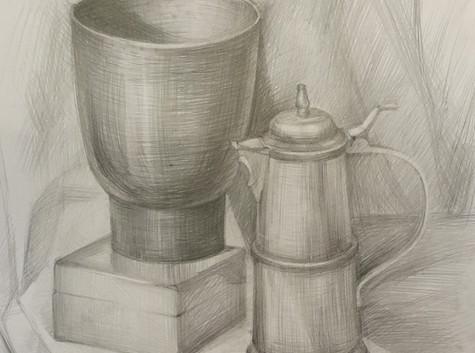 Предметная постановка рисунок карандашом