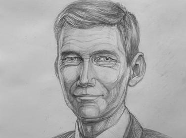 Портрет мужчины карандашом Artintent
