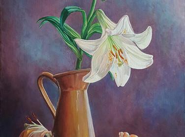 Цветы живопись маслом Лилии.jpg