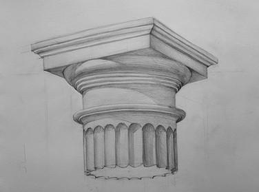 рисование капители карандашом artintent.