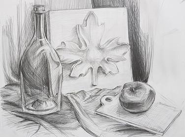 Рисование натюрморта карандашом