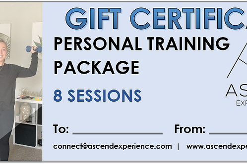 Gift Certificate - 8 Sessions