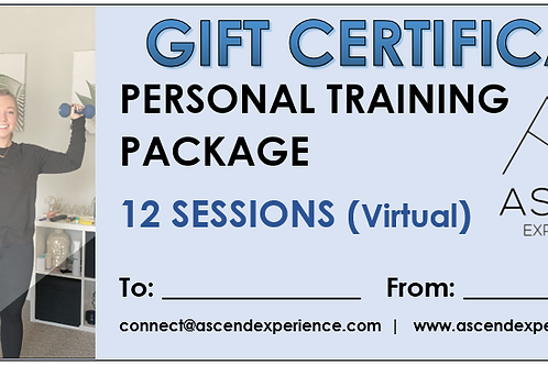 Gift Certificate - 12 Sessions (virtual)