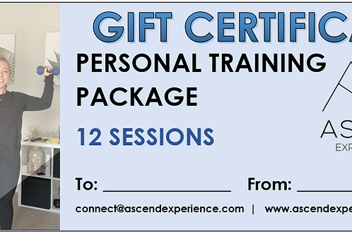 Gift Certificate - 12 Sessions