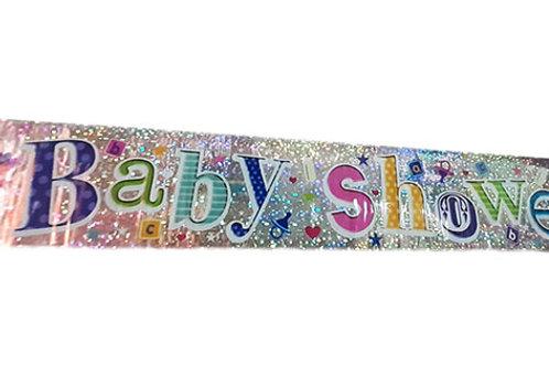 Baby Shower Glitter Foil Banner