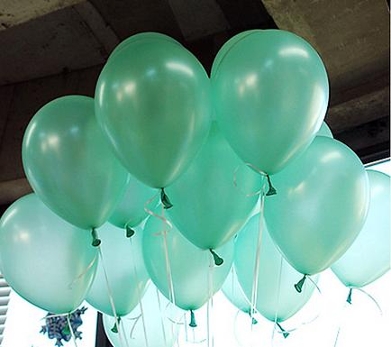 "10"" Turquoise Metallic Latex 100 Pcs"