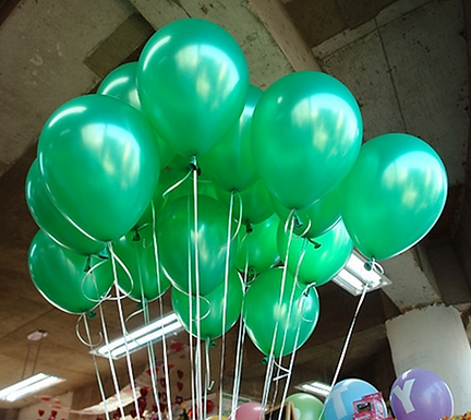 "10"" Green Metallic Latex 100 Pcs"