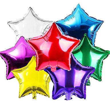 """18"""" Solid Color  Star Shape Foil Balloons (1 Dozen)"""