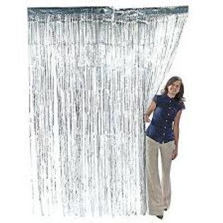 Silver Metallic Foil Curtain