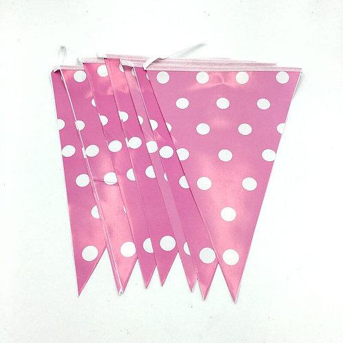 Pink Polka Dot Bunting Banner