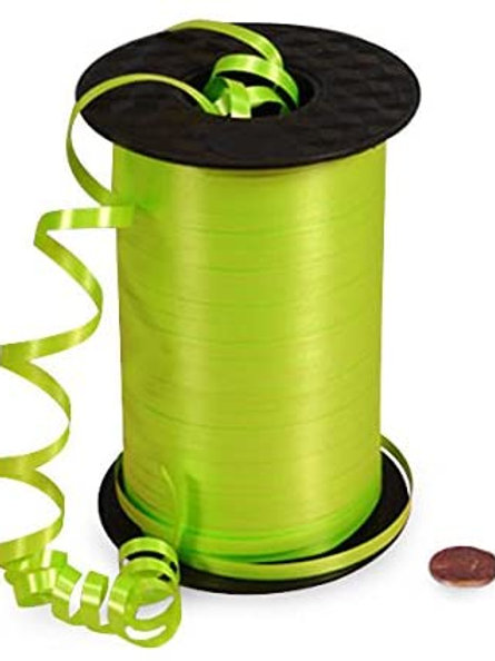 Lime Green Smooth Curling Ribbon
