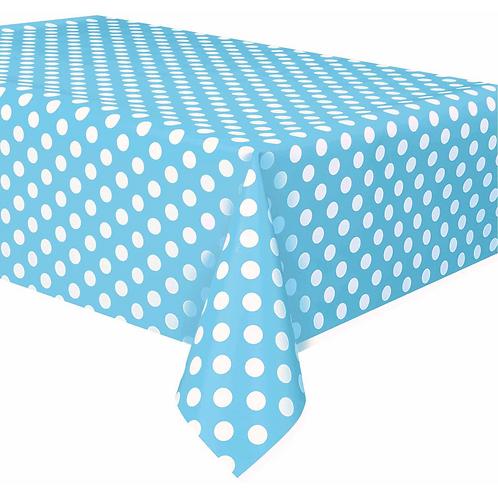 Blue Polka Dots Table Cover Vinyl
