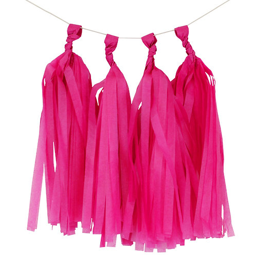 Dark Pink Tassel Fringe