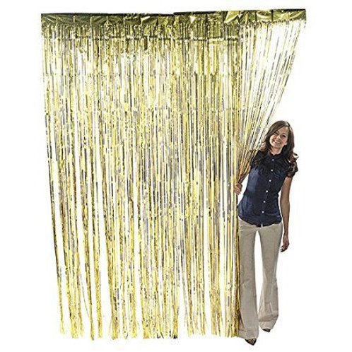 Gold Metallic Foil Curtain