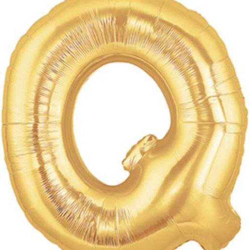 "40"" Gold Q Foil Letter Balloon"