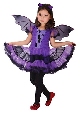 Purple Bat Kids Halloween Costume