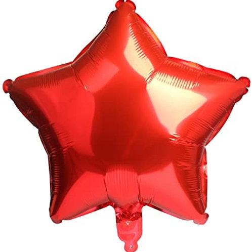 """Red Star Shape Foil Balloons 18"""""""