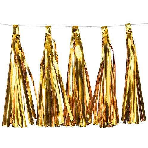 Gold Metallic Tassel Fringe