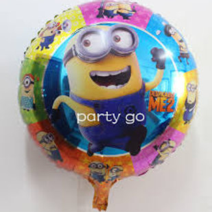 """18"""" Minion Bob Despicable Me Round Mylar Balloon"""