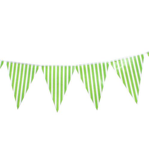 Green Striped  Bunting Banner