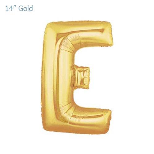 """14"""" Gold E Foil Letter Balloon"""