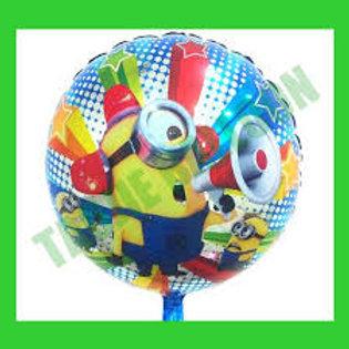"""18"""" Minion Stuart Despicable Me Round Mylar Balloon"""