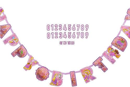 Rapunzel Jumbo Letter Banner