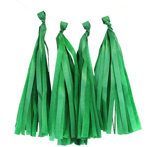 Green Tassel Fringe